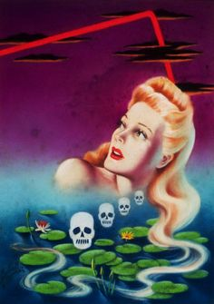 """vintagegal: """" Murder with Long Hair, Atlas Mystery digest cover by Cardwell Higgins, 1944 """" Graphic Design Illustration, Illustration Art, Illustrations, Danse Macabre, Pulp Art, Pin Up Art, Horror, Prints, Painting"""