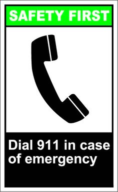 Dial 911 in case of emergency $1.64 #signs
