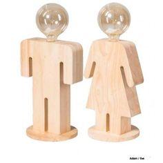 ETH Tafellamp Adam & Eve - AllesinWonderland.nl Pepper Grinder, Deco, Place Card Holders, Accessories, Deko, Decorating, Dekoration, Ornament