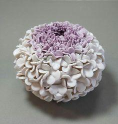 Porcelain ceramic hand built vase. Nancy Monsebroten Www.whiteearthstudio.etsy.com