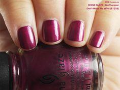 China Glaze Nail Lacquer in Don't Make Me Wine (swatch by fivezero.ca) [purple]
