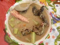 iguana soup... Would you dare to taste it? It tastes like chicken soup but even better