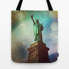 The Statue of Liberty Tote Bag by Dan Howard - $22.00 design, artwork, self representing artist, society6