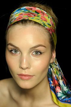 """If you toss and turn at night, avoid any potential for bed head flyaways by wrapping your hair in a silk scarf. Ambassador of Redken and celebrity hair expert Rodney Cutler says, """"When hair is dry, use a silk scarf and wrap it around your head, tying in the front and pinning along the sides."""" #beauty"""