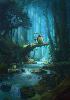 Paisaje Totoro