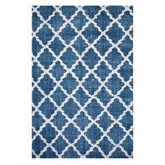 Stonewashed tæppe, blå
