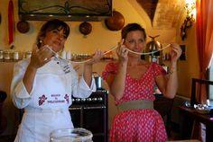 Making Pasta with Chef @Silvia Baracchi  at the #Ilfalconiere ... www.ilfalconiere.com