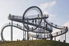 Tiger & Turtle—Magic Mountain, Duisburg, Germany. It looks like a roller coaster, but it's a staircase!