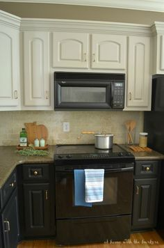 Cream Kitchen With Black Appliances | Hand Painted Cream Kitchen Custom  Built In Frame Kitchen With Soft ... | Old New House | Pinterest | Black  Appliances, ...
