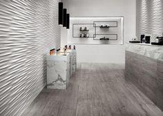 Creative wall design with 3D ceramic tiles by Atlas Concorde   Decor10