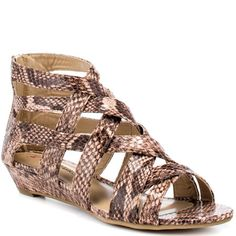 JustFab  Hecate  Tany Python Heels