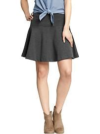 Women's Fit-and-Flare Ponte Knit Skirt at Old Navy