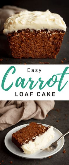 This intensely flavourful carrot cake loaf is super moist, topped with velvety cream cheese frosting and everything you need in life! Click for the easy step by step picture recipe, helpful tips and much more... #carrotcake #carrotcakerecipe #easycarrotcakerecipe #cakerecipes #loafcakes #loafcakerecipes Healthy Cake, Healthy Dessert Recipes, Baking Recipes, Cake Recipes, Carrot Cake Loaf, Carrot Spice Cake, Fun Easy Recipes, Sweet Recipes, Picture Recipe