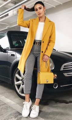 winter outfits for work . winter outfits for school . winter outfits for going out . Dressy Casual Outfits, Stylish Winter Outfits, Business Casual Outfits, Winter Fashion Outfits, Work Casual, Classy Outfits, Fall Outfits, Yellow Outfits, Chic Outfits