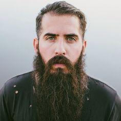 Trig Perez - full thick long bushy beard and mustache awesome coloration beautiful green eyes beards bearded man men natural length bearding #beardsforever