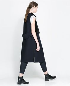 Image 1 of COMBINED FUR WAISTCOAT from Zara