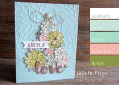 Seeing Ink Spots: O' Succulent Tree - SU -  Oh So Succulent stamp set and watercolored them with pale inks and an Aqua Painter.