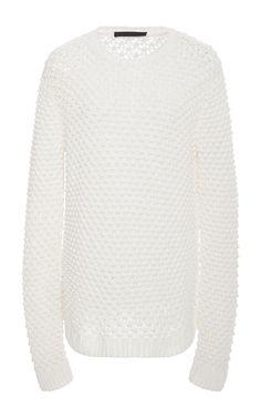 Textured Crew Neck Sweater  by JENNI KAYNE Now Available on Moda Operandi