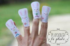 5 πασχαλινά λαγουδάκια – Ποιηματάκι για μικρά δαχτυλάκια – meleniro