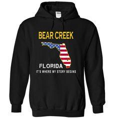 BEAR CREEK It's Where My Story Begins T-Shirts, Hoodies. SHOPPING NOW ==► https://www.sunfrog.com/States/BEAR-CREEK--Its-Where-My-Story-Begins-eocri-Black-14218583-Hoodie.html?id=41382
