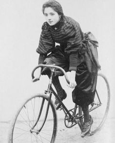 """fixiegirls:  """"Repost from @kor_nyc #tbt Madamoiselle Reillo. 1896.  _  #ride #bicycle #fixie #earth #love  """""""