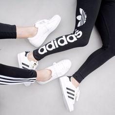 Always Dolled Up: Athleisure Street Style: 101 Ways to Wear Adidas Sport Style, Athleisure, Sport Fashion, Fitness Fashion, Adidas Fashion, Sneakers Fashion, Adidas Originals, Sport Outfits, Cute Outfits