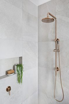 Home Decor Quotes Round Champagne Shower Rail Set by Meir Australia.Home Decor Quotes Round Champagne Shower Rail Set by Meir Australia Shower Storage, Toilet Storage, Bathroom Storage, Attic Bathroom, Master Bathroom, Bathroom Black, Bathroom Renovations, Home Remodeling, Rustic Bathroom Vanities