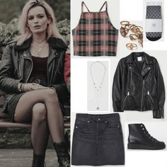 girl aesthetic outfits How to Copy Maeve's Style from Sex Education - College Fashion Grunge Outfits, Edgy Outfits, Cute Outfits, Fashion Outfits, Fashion Styles, Fashion Tips, Bad Girl Style, Bad Girl Outfits, Jugend Mode Outfits