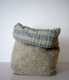 flexible storage basket - knit with woven lining No.2
