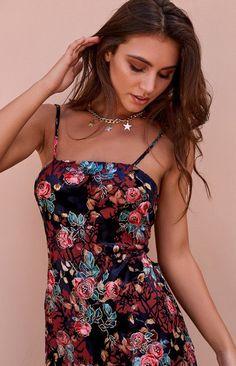 Salsa Dress Velvet Floral