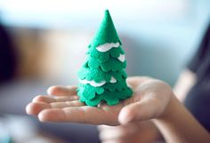 Felt + spray tack = darling mini trees!