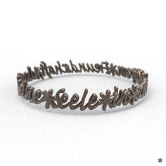 Jedes Stück ist einzigartig wie du! Armreif aus Edelstahl oder 925 Sterling Silber von uns mit Liebe modelliert und mittels 3D Druck für dich produziert :) Wedding Rings, Engagement Rings, Bracelets, Jewelry, Fashion, Bangle Bracelet, Unique, Stainless Steel, Silver
