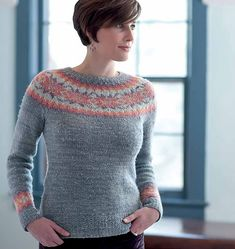 Fitted Icelandic sweater in a lovely color combination