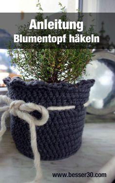 Anleitung Häkel-Blumentopf