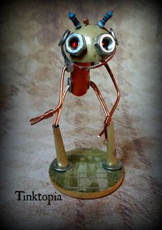 Dank  Hand made recycled robot from the World of by Tinktopia