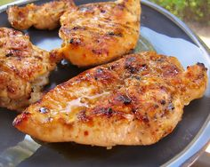 Sweet & Tangy Grilled Chicken - best chicken marinade! He asked for it again the next day!