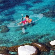 Transparent Canoe Kayak Lets You See All The Underwater Beauty -  #boats #kayak #vacation