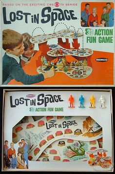 1966 Lost in Space Action Fun Game by Remco 1960s Toys, Retro Toys, Vintage Toys, Retro Games, Old Board Games, Vintage Board Games, Game Boards, Bored Games, Board Game Design