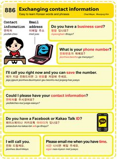 Easy to Learn Korean 886 - Contact Information Chad Meyer and Moon-Jung Kim EasytoLearnKorean.com