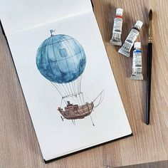 Cool Steampunk Balloon Ship