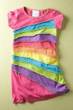 rainbow shirt- tees t-shirts t shirts upcycle refashion recycled