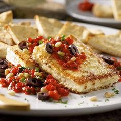 Pan-Fried Feta with Red Pepper Salsa - The Pampered Chef®