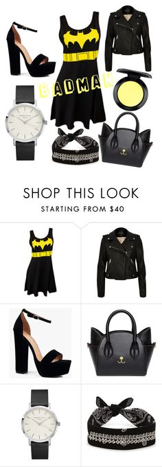 """""""Badman"""" by livelikeimani ❤ liked on Polyvore featuring River Island, Boohoo, Fallon and MAC Cosmetics"""