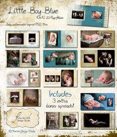 10x10 Baby Album template for por FlourishDesignStudio en Etsy