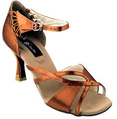 Very Fine Shoes Competitive Dancer Series CD2001 Open Toe X-Strap with 2.5 Latin Heel