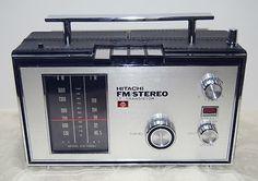 Vintage 1968 HITACHI Japan (KS-1700H) FM Stereo Radio