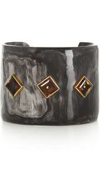 Ashley Pittman Almasi horn and topaz cuff