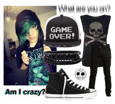 """am i crazy"" by jeff-the-killer-cp ❤ liked on Polyvore featuring art"