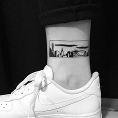 "1,666 Likes, 31 Comments - E (@chinatown_stropky) on Instagram: ""Thank you, Audrey! #tattoo #blackwork #sf #cityscape #goldengatebridge #sanfrancisco…"""