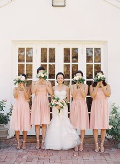 Photography : Caroline Tran | Floral Design : Indigo & Plum | Wedding Dress : Monique Lhuillier Read More on SMP: http://www.stylemepretty.com/2015/05/19/blush-gray-elegant-vineyard-wedding/